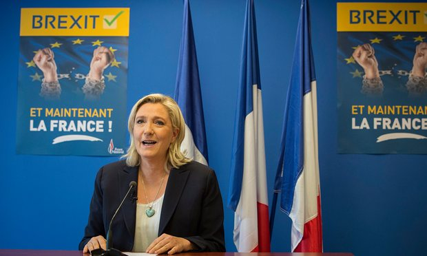 Marine Le Pen, the Front National leader, welcomes the Brexit