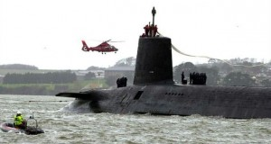 The Royal Navy's nuclear submarine HMS Vanguard is 150 metres long