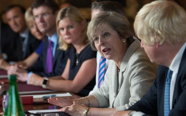 Theresa May holds a Cabinet meeting at Chequers