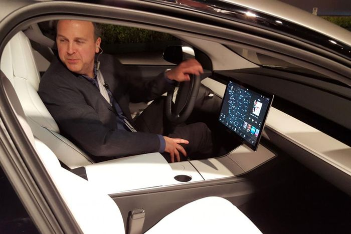 Low-Price_Electric_Vehicle_Tesla_Model_3_Showed_Ascetic_Interior