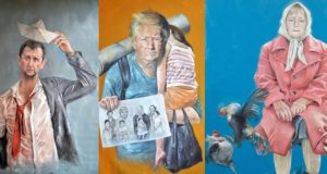 Syrian_artist_turned_world_leaders_into_refugees