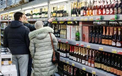 Alcoholic drinks on sale ahead of New Year