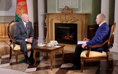 Belarus' President Lukashenko interviewed by Ukrainian journalist Gordon